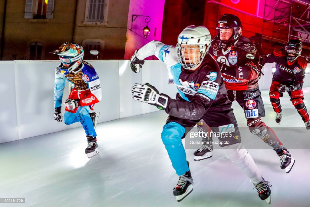 Jere Lehto during the Red Bull Crashed Ice Marseille 2018 on February 17, 2018 in Marseille, France.