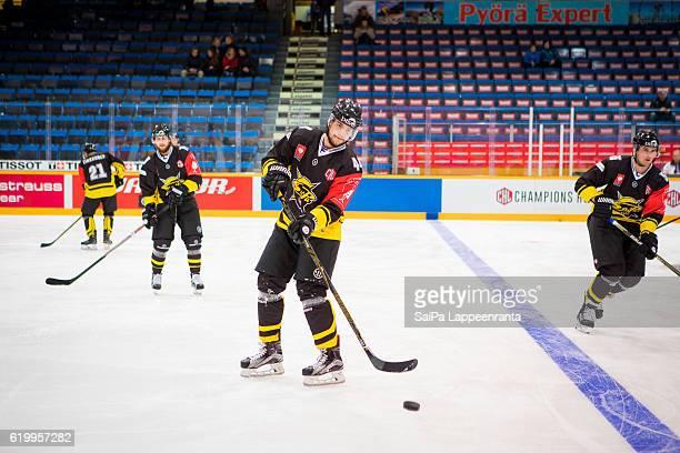 Jere Sneck of Lappeenranta before the Champions Hockey League Round of 16 match between SaiPa Lappeenranta and Vaxjo Lakers at Kisapuisto on November...