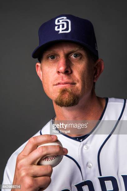 Jered Weaver of the San Diego Padres poses for a portrait at the Peoria Sports Complex on February 19 2017 in Peoria Arizona