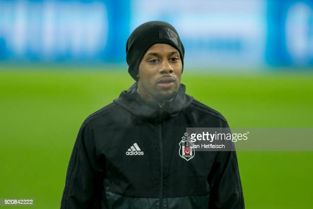 Jeremain Lens of Besiktas Istanbul during a training session ahead the UEFA Campions League match against FC Bayern Muenchen at Allianz Arena on...