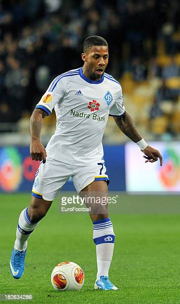 Jeremain Lens of FC Dynamo Kyiv in action during the UEFA Europa League group stage match between FC Dynamo Kyiv and KRC Genk held on September 19...