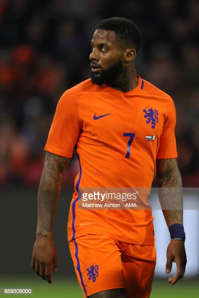 Jeremain Lens of Netherlands in action during the international friendly match between Netherlands and Italy at Amsterdam ArenA on March 28 2017 in...