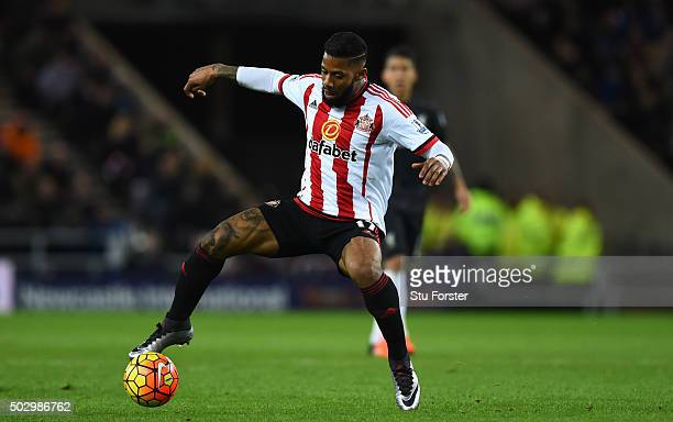 Jeremain Lens of Sunderland in action during the Barclays Premier League match between Sunderland and Liverpoool at Stadium of Light on December 30...