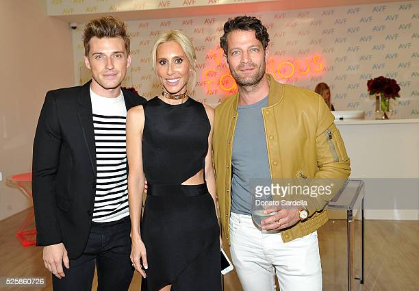 Jeremiah Brent Alexandra von Furstenberg and Nate Berkus attend the opening of the Alexandra Von Furstenberg Los Angeles flagship store on April 28...