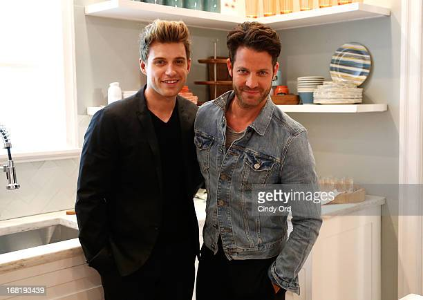Jeremiah Brent and Nate Berkus attend the Target Dollhouse event at Grand Central Station Vanderbilt Hall on May 6 2013 in New York City