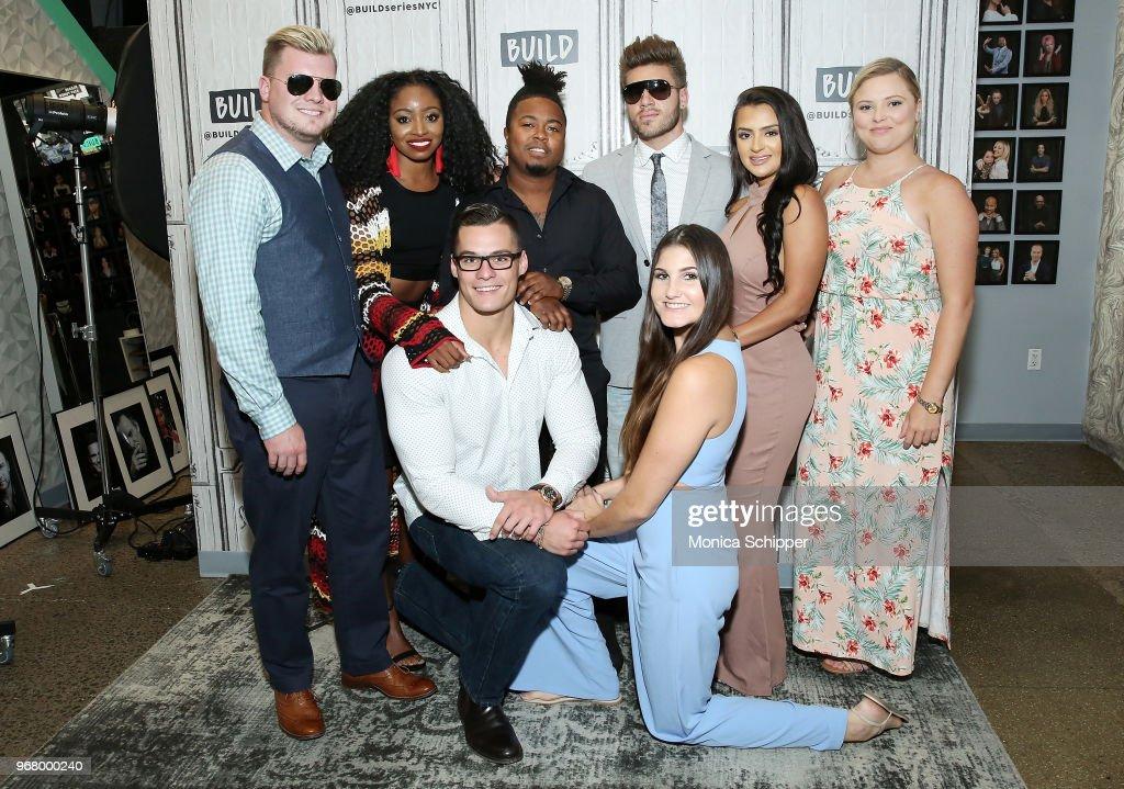 Jeremiah Buoni, Codi Butts, Kortni Gilson, Aimee Hall, Kirk Medas, Nilsa Prowant, Candace Rice and Gus Smyrnios visit Build Studio to discuss 'MTV Floribama Shore' on June 5, 2018 in New York City.