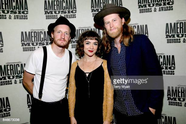 Jeremiah Caleb Fraites Neyla Pekarek and Wesley Schultz of the Lumineers attend the 2017 Americana Music Association Honors Awards on September 13...