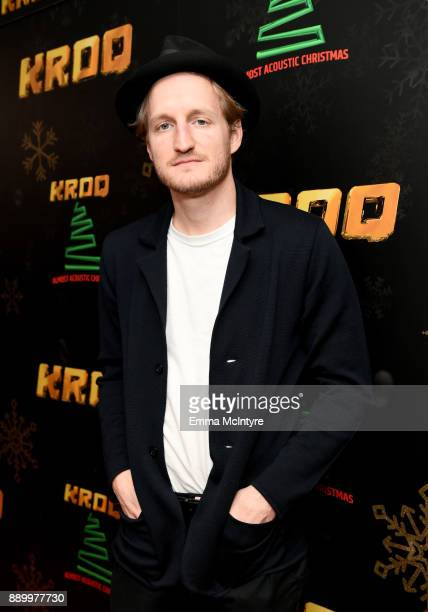 Jeremiah Fraites of The Lumineers pose backstage during KROQ Almost Acoustic Christmas 2017 at The Forum on December 10 2017 in Inglewood California