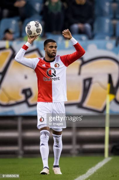 Jeremiah Jerry St Juste of Feyenoord during the Dutch Eredivisie match between Vitesse Arnhem and Feyenoord Rotterdam at Gelredome on February 11...