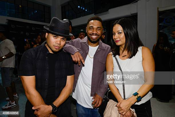 Jeremiah Lazo Julien Edwards and Hennessy West Coast Marketing Manager ThuyAnh J Nguyen attend Hennessy VS Presents Brandon Williams' Simple is...