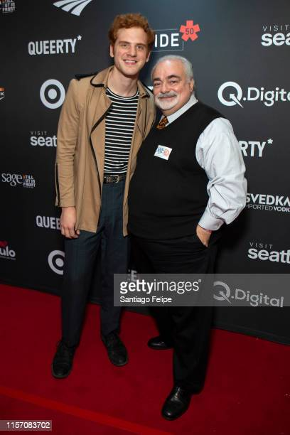 Jeremiah Lloyd Harmon and Jay Toole attend the 2nd Annual Queerty Pride50 event at at Town Stages on June 19 2019 in New York City