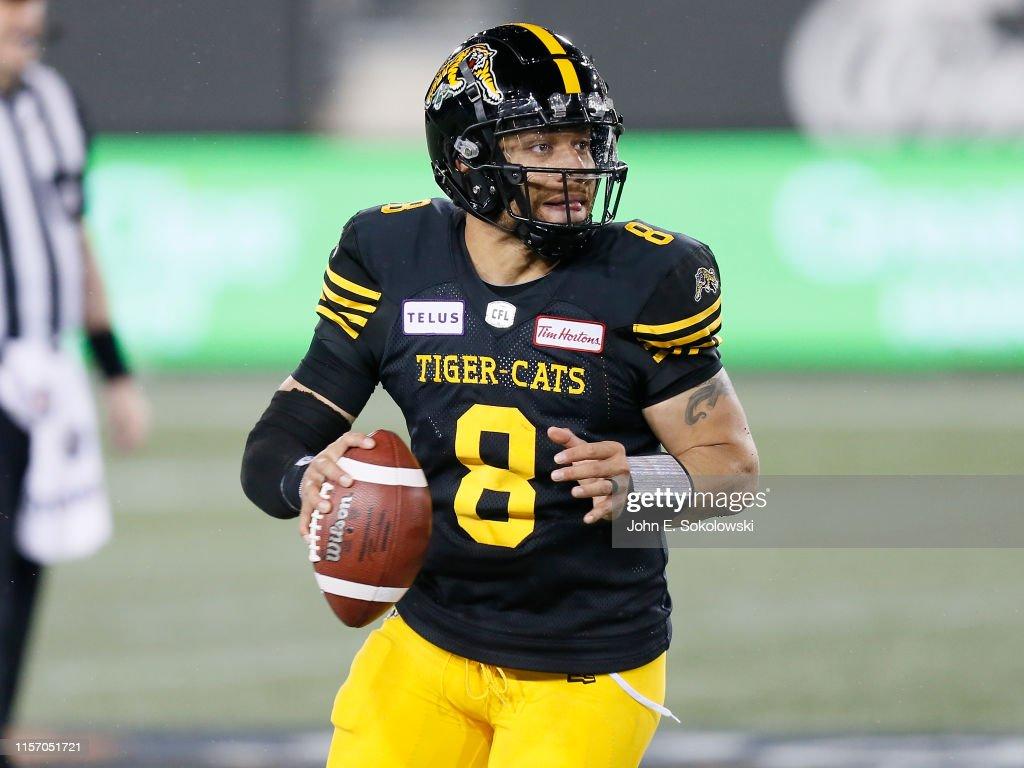 Saskatchewan Roughriders v Hamilton Tiger-Cats : News Photo