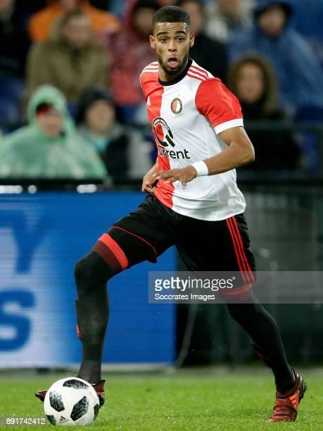 Jeremiah St Juste of Feyenoord during the Dutch Eredivisie match between Feyenoord v SC Heerenveen at the Stadium Feijenoord on December 13 2017 in...