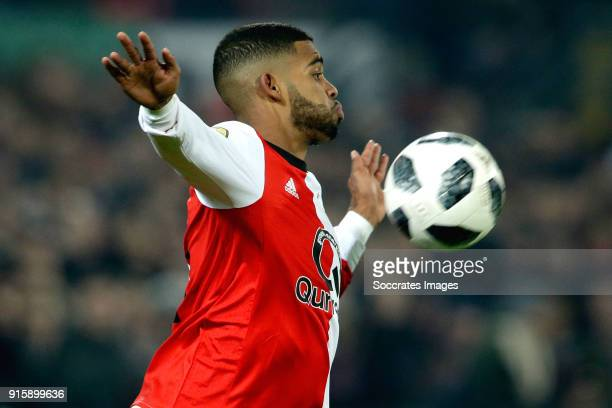 Jeremiah St Juste of Feyenoord during the Dutch Eredivisie match between Feyenoord v FC Groningen at the Stadium Feijenoord on February 8 2018 in...