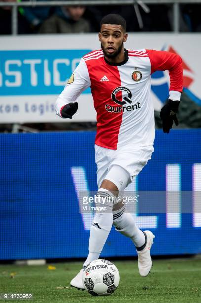 Jeremiah St Juste of Feyenoord during the Dutch Eredivisie match between VVV Venlo and Feyenoord Rotterdam at Seacon stadium De Koel on February 04...