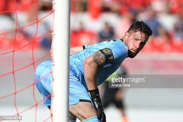 Jeremias Ledesma of Rosario Central looks on during a match between Independiente and Rosario Central as part of Superliga 2019/20 at Libertadores de...