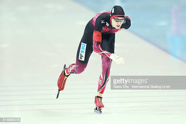 Jeremias Marx of Germany competes in the Men 1500m on day one of the ISU Junior Speed Skating Championships 2016 at the Jilin Speed Skating OVAL on...
