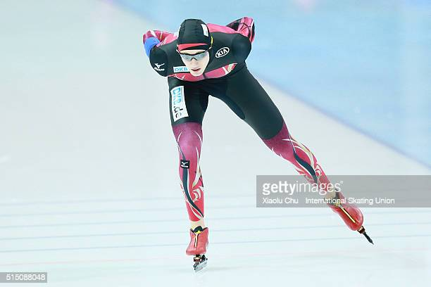Jeremias Marx of Germany competes in the Men 5000m on day one of the ISU Junior Speed Skating Championships 2016 at the Jilin Speed Skating OVAL on...