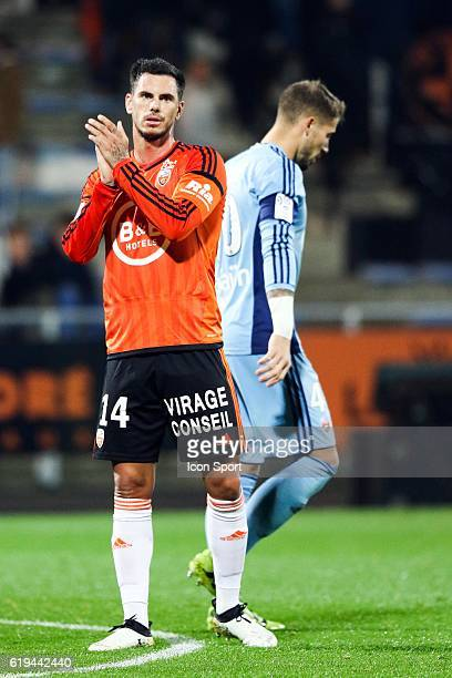 Jeremie Aliadiere of Lorient during the French Ligue 1 between Lorient and Montpellier at Stade du Moustoir on October 29 2016 in Lorient France