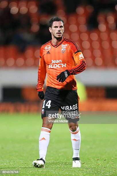 Jeremie Aliadiere of Lorient during the Ligue 1 match between Fc Lorient and As Monaco at Stade du Moustoir on November 18 2016 in Lorient France