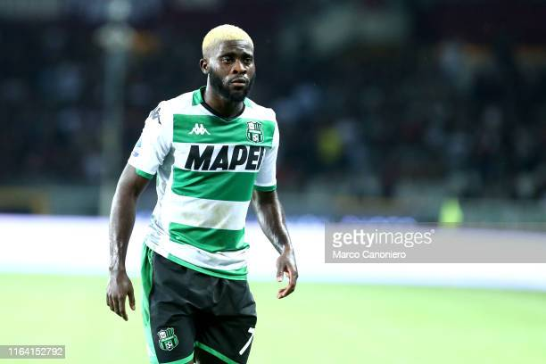 Jeremie Boga of Us Sassuolo Calcio during the the Serie A match between Torino Fc and Us Sassuolo Calcio. Torino Fc wins 2-1 over Us Sassuolo Calcio.