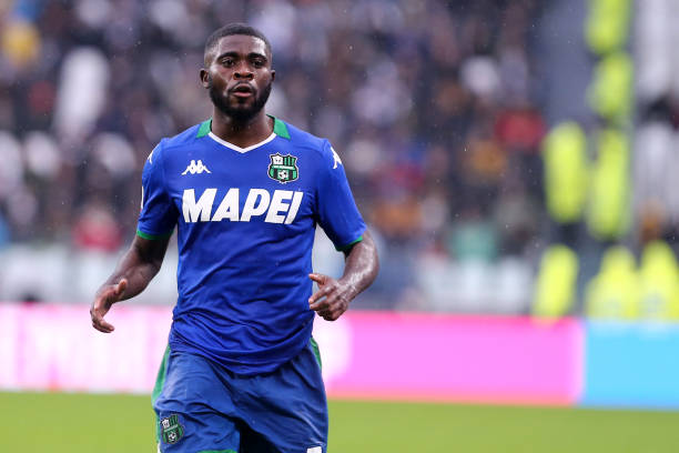 Jeremie Boga of Us Sassuolo Calcio during the the Serie A...