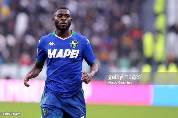 Jeremie Boga of Us Sassuolo Calcio during the the Serie A match between Juventus Fc and Us Sassuolo Calcio The match end in a tie 22