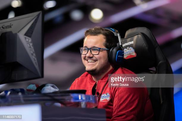 Jeremie Dube during the 2019 NHL Gaming World Championship Canadian Regional Finals at the Sportsnet Studio on May 25 2019 in Toronto Ontario Canada