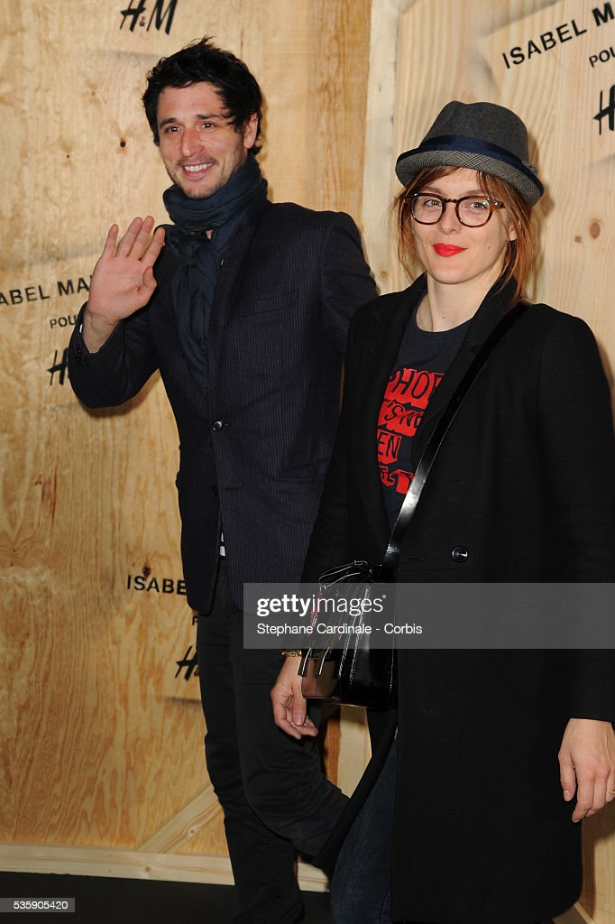 Jeremie Elkaim and Valerie Donzelli attend the 'Isabel Marant For H&M' Photocall at Tennis Club De Paris, in Paris.