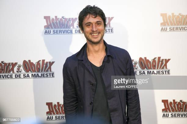 Jeremie Elkaim attends at 'Asterix et Obelix au service de sa majeste' film premiere at 'Le Grand Rex' on September 30 2012 in Paris France