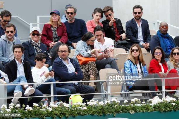 Jeremie Elkaim Victoria Olloqui Hortense d'Estev Capucine Anav AlainFabien Delon Charlie Bruneau and JeanBaptiste Pouilloux attend the 2019 French...