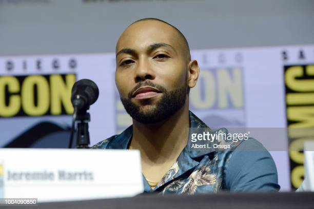 """Jeremie Harris speaks onstage at the """"Legion"""" discussion and Q&A during Comic-Con International 2018 at San Diego Convention Center on July 22, 2018..."""