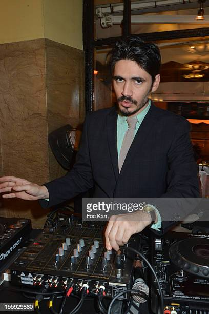 Jeremie Khlat performs during the 'Prix De Flore 2012' Literary Award Ceremony Party at the Cafe de Flore on November 8 2012 in Paris France