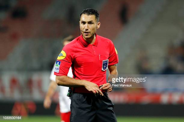 Jeremie Pignard referee during the French Ligue 2 match between Nancy and Le Havre on September 14 2018 in Nancy France