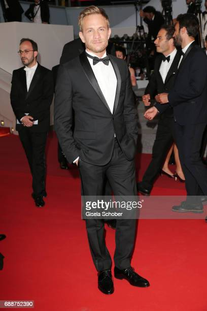 Jeremie Renier leaves the 'Amant Double ' screening during the 70th annual Cannes Film Festival at Palais des Festivals on May 26 2017 in Cannes...