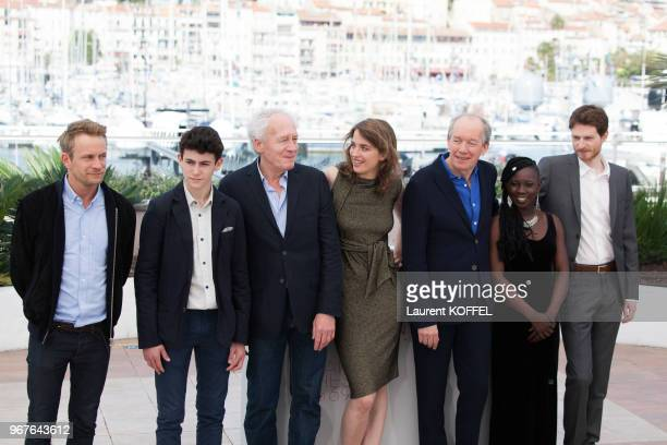 Jeremie Renier Louka Minnella JeanPierre Dardenne Adele Haenel Luc Dardenne Nadege Ouedraogo and Olivier Bonnaud attend 'The Unknown Girl ' Photocall...