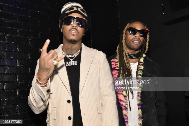 Jeremih and Ty Dolla $ign attend Ty Dolla Sign and Jeremih's MihTy Album Listening Party at The VNYL on October 24 2018 in New York City