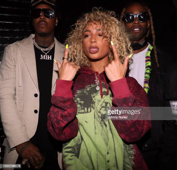 Jeremih Danileigh and Ty Dolla $ign attend Ty Dolla $ign and Jeremih's MihTy Album Release Party at The VNYL on October 24 2018 in New York City