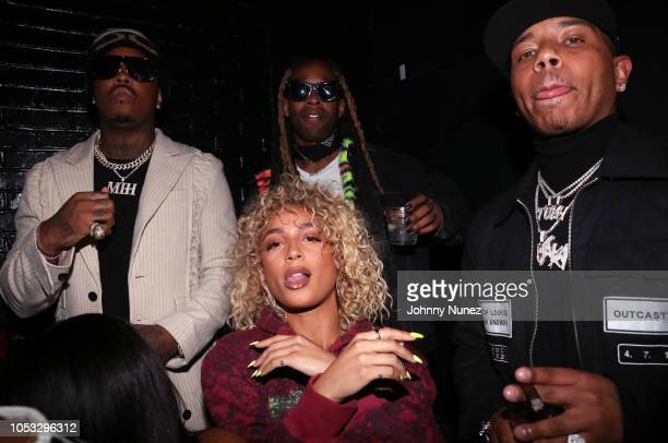 Jeremih Danileigh Ty Dolla $ign and Yung Berg attend Ty Dolla $ign and Jeremih's MihTy Album Release Party at The VNYL on October 24 2018 in New York...