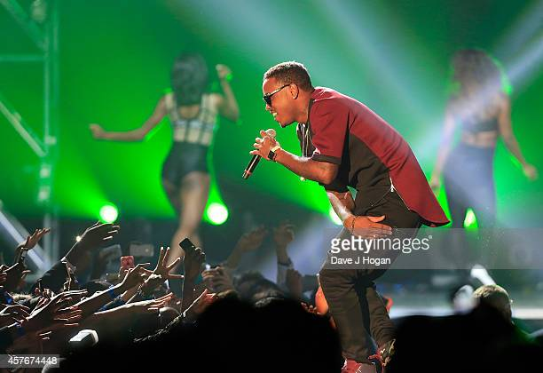Jeremih performs onstage at the MOBO Awards at SSE Arena on October 22 2014 in London England
