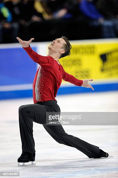 Jeremy Abbott competes in the Championship Men's Free Skate Program Competition during day 4 of the 2015 Prudential US Figure Skating Championships...