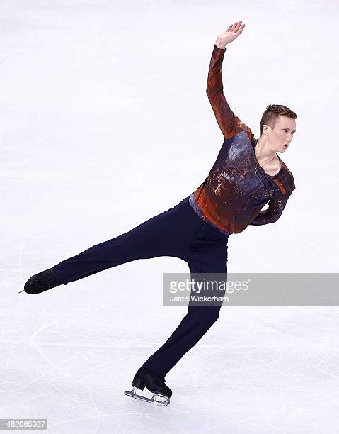 Jeremy Abbott competes in the free skate program during the 2014 Prudential US Figure Skating Championships at TD Garden on January 12 2014 in Boston...