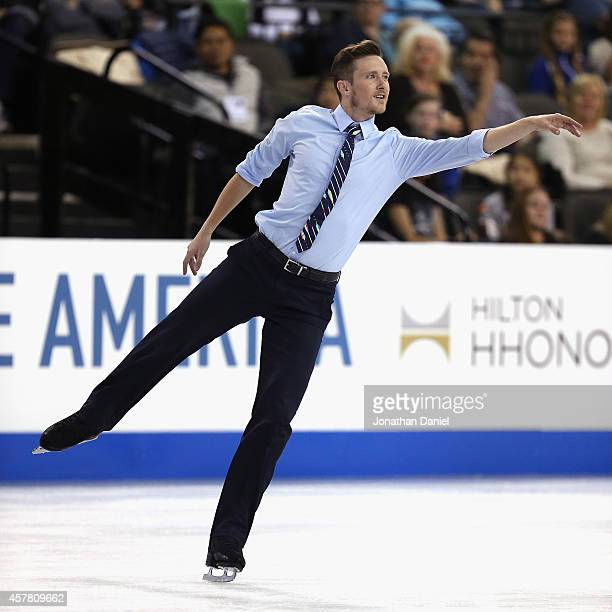Jeremy Abbott competes in the Men Short Program during the 2014 Hilton HHonors Skate America competition at the Sears Centre Arena on October 24 2014...