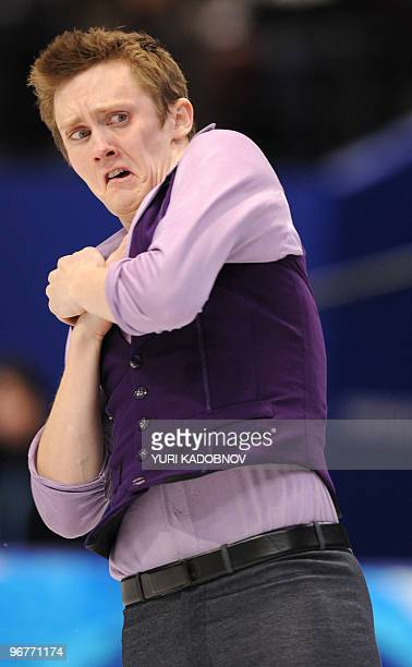 US' Jeremy Abbott competes in the men's 2010 Winter Olympics figure skating short program at the Pacific Coliseum in Vancouver on February 16 2010...