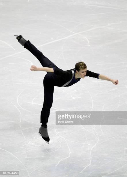 Jeremy Abbott competes in the senior men's short program during the 2012 US Figure Skating Championships at HP Pavilion on January 27 2012 in San...