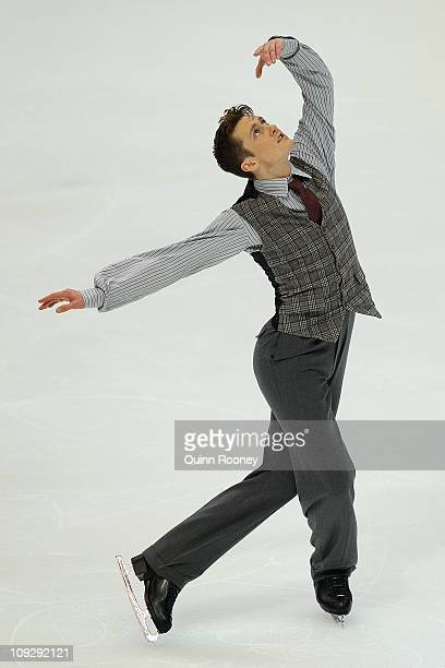 Jeremy Abbott of the USA skates in the Mens Free Skating during day three of the Four Continents Figure Skating Championships at Taipei Arena on...