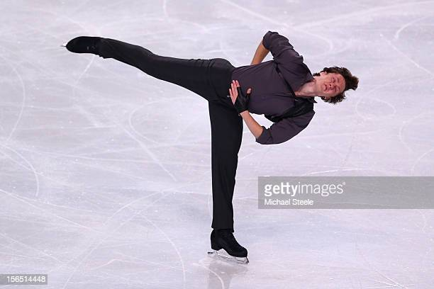Jeremy Abbott of USA during the Men's Short Program on day one of the ISU Grand Prix of Figure Skating Trophee Eric Bompard at Omnisports Bercy on...