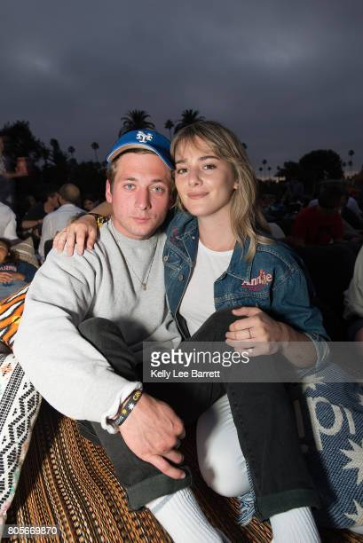 Jeremy Allen White and Addison Timlin attend Cinespia's screening of 'Dirty Dancing' held at Hollywood Forever on July 1 2017 in Hollywood California