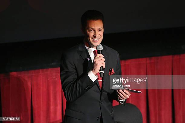 Jeremy Arnold speaks onstage at the screening of 'A Tree Grows in Brooklyn' during day 1 of the TCM Classic Film Festival 2016 on April 28, 2016 in...