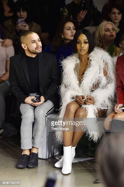 Jeremy Atie and recording artist Remy Ma attend the Christian Cowan fashion show during New York Fashion Week The Shows at Gallery II at Spring...